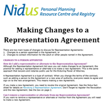 Representation Agreement Resource: Making Changes to a Representation Agreement