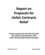 Report on Proposals for Unfair Contracts Relief