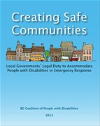 Creating Safe Communities: Local Governments Legal Duty to Accommodate People with Disabilities in Emergency Response